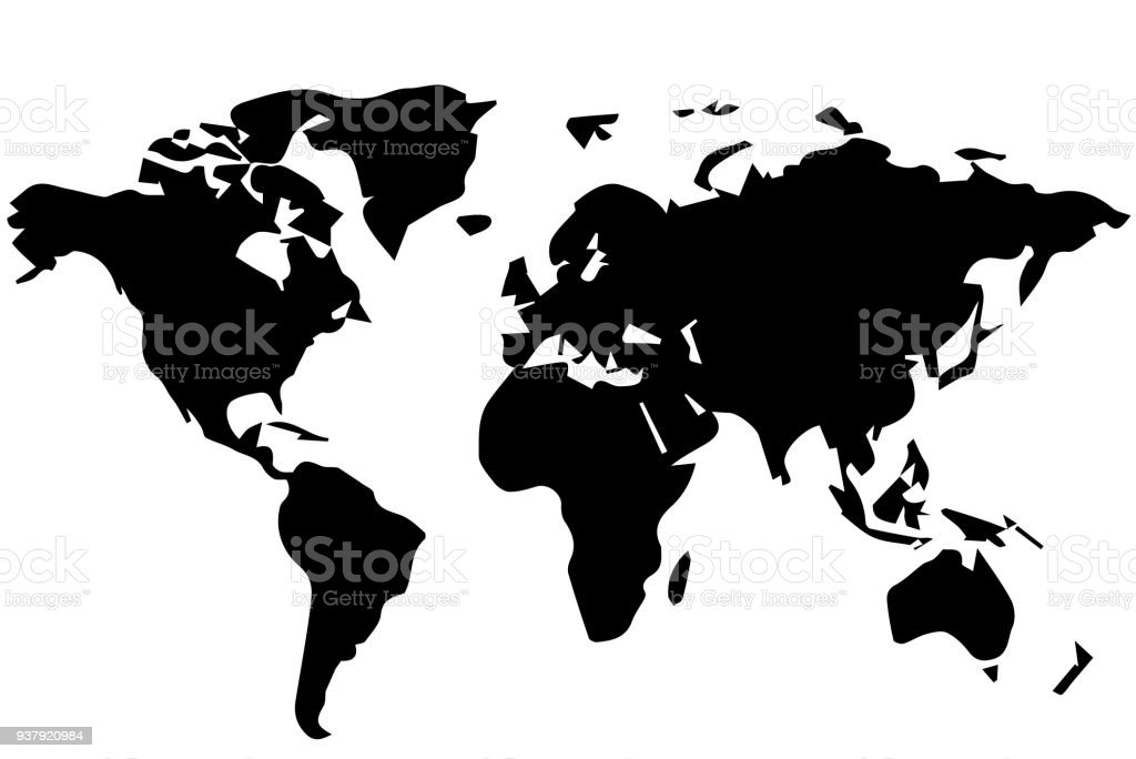 Drawing of a world map stock vector art more images of abstract drawing of a world map royalty free drawing of a world map stock vector art gumiabroncs Image collections
