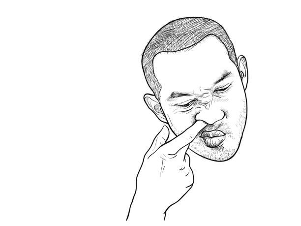 Best Finger Nose Illustrations, Royalty-Free Vector