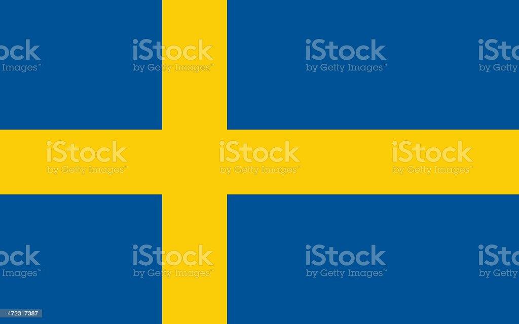 Bandera de Suecia - ilustración de arte vectorial