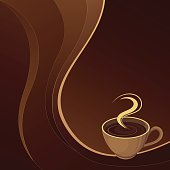 Cup of coffee. Vector background.