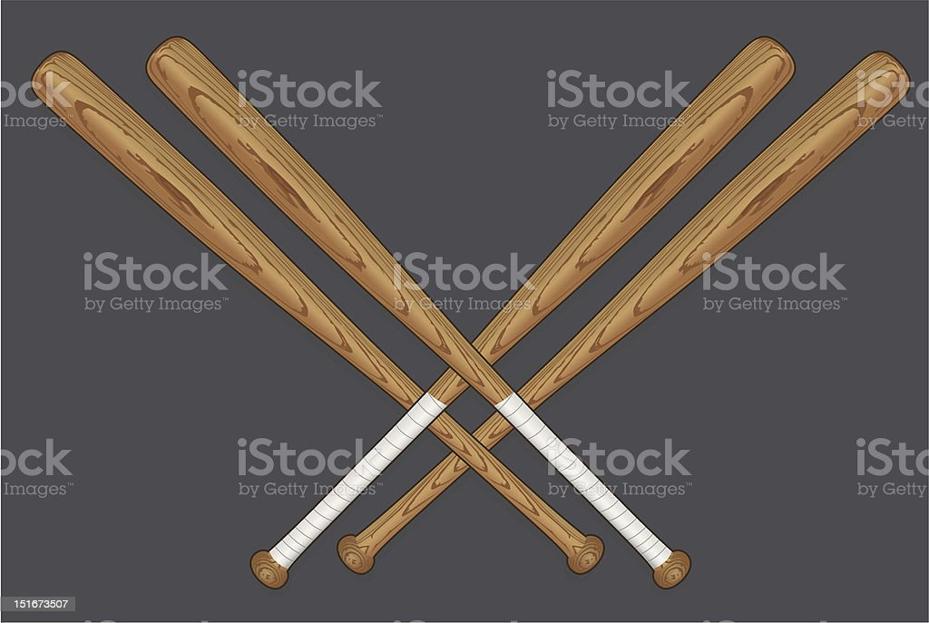 Download Drawing Of Four Crossed Baseball Bats Stock Illustration ...