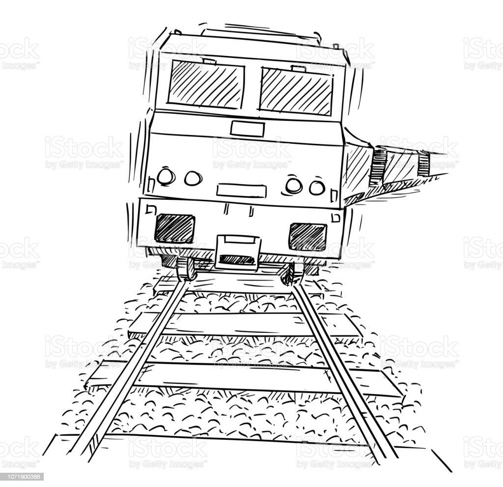 Dessin De Generique Train Moteur Locomotive Sur Les Rails Vecteurs Libres De Droits Et Plus D Images Vectorielles De Activite Avec Mouvement Istock