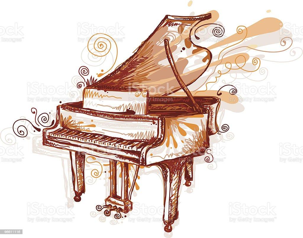 Piano funk - Royalty-free Ausência arte vetorial