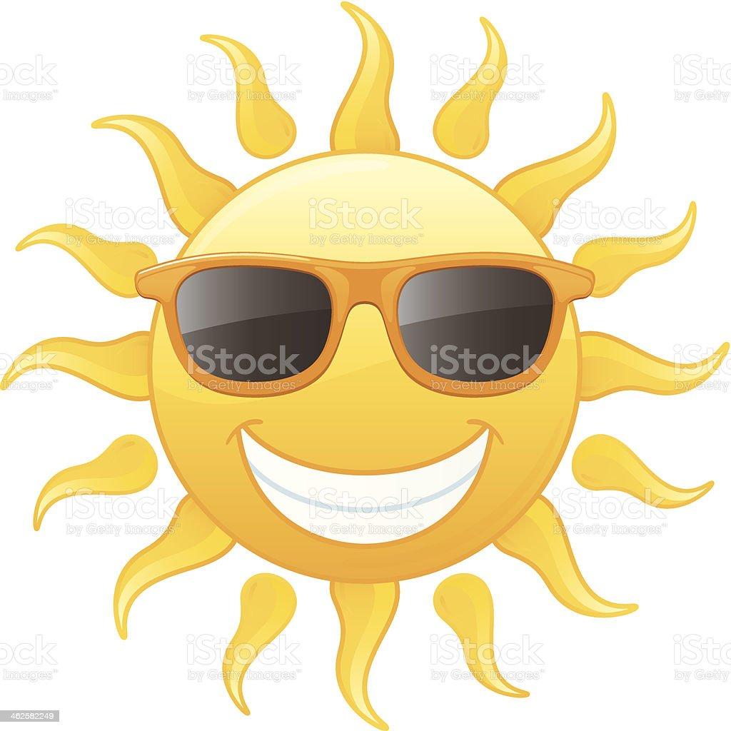 e7f5172bf627 Улыбка сияющей желтый летом солнце носить Оранжевое Солнцезащитные очки  Векторная иллюстрация Сток Вектор Стоковая фотография