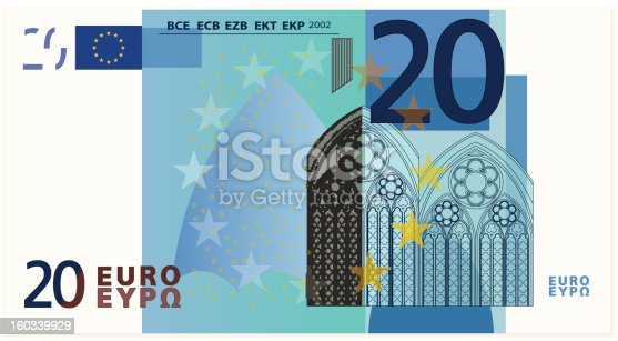 istock Drawing of the twenty Euro bank note  160339929