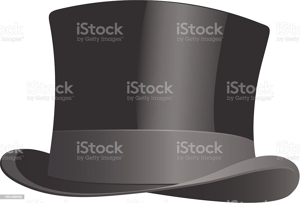 Drawing of traditional black top hat royalty-free drawing of traditional black top hat stock vector art & more images of 1940-1949