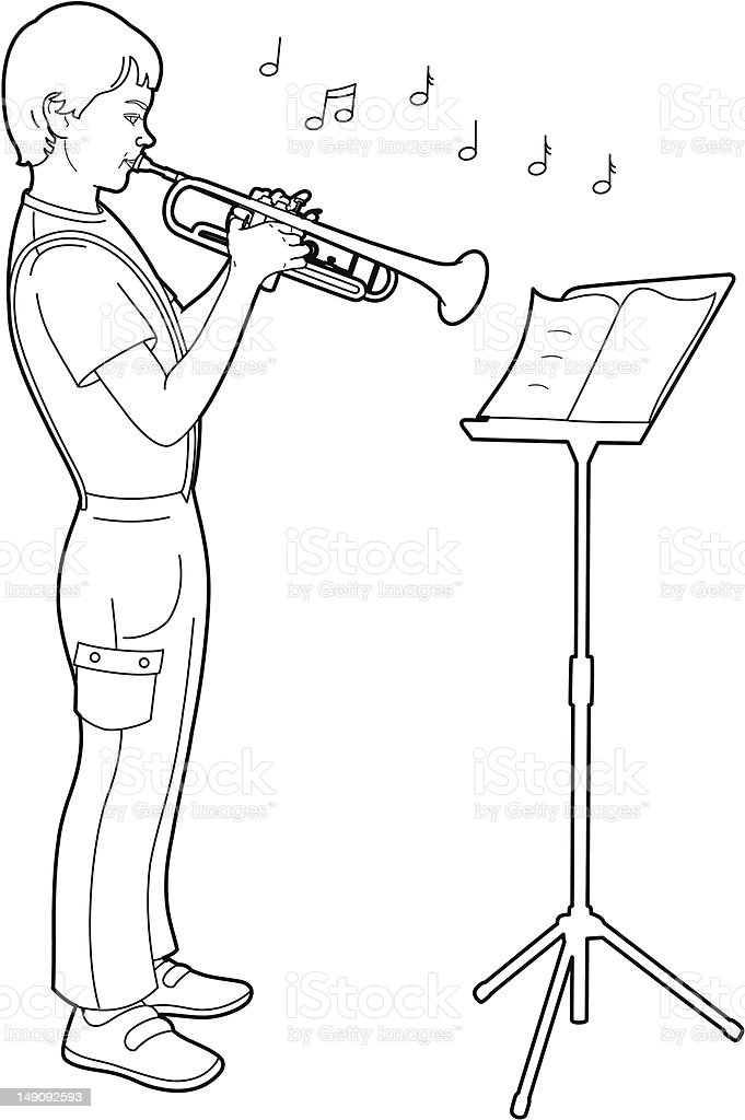 Royalty Free Sheet Music Stand Clip Art Vector Images