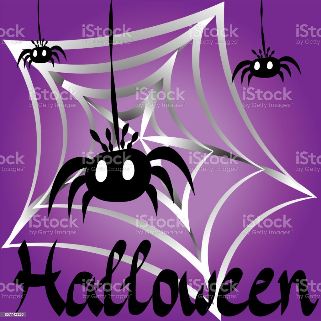 Drawing on a theme of a holiday Halloween vector art illustration