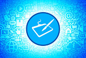 Drawing Pad  Icon on Internet Technology Background