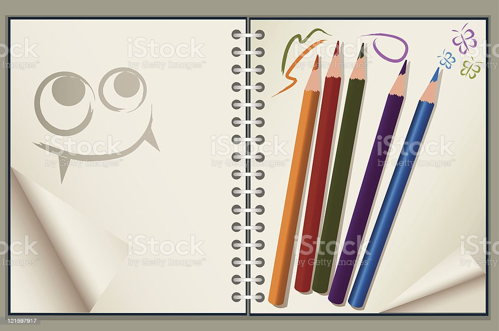 drawing pad royalty-free drawing pad stock vector art & more images of color image