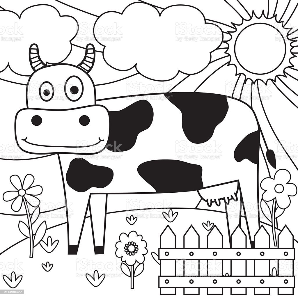 Drawing Paper With Dairy Cow Design Royalty Free Stock