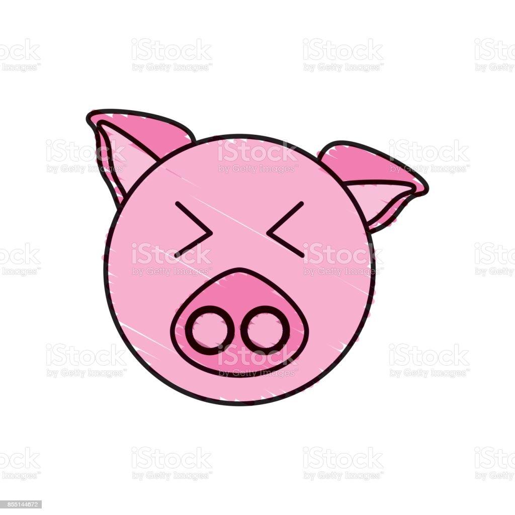 ilustração de desenho animal rosto porquinho e mais banco de imagens