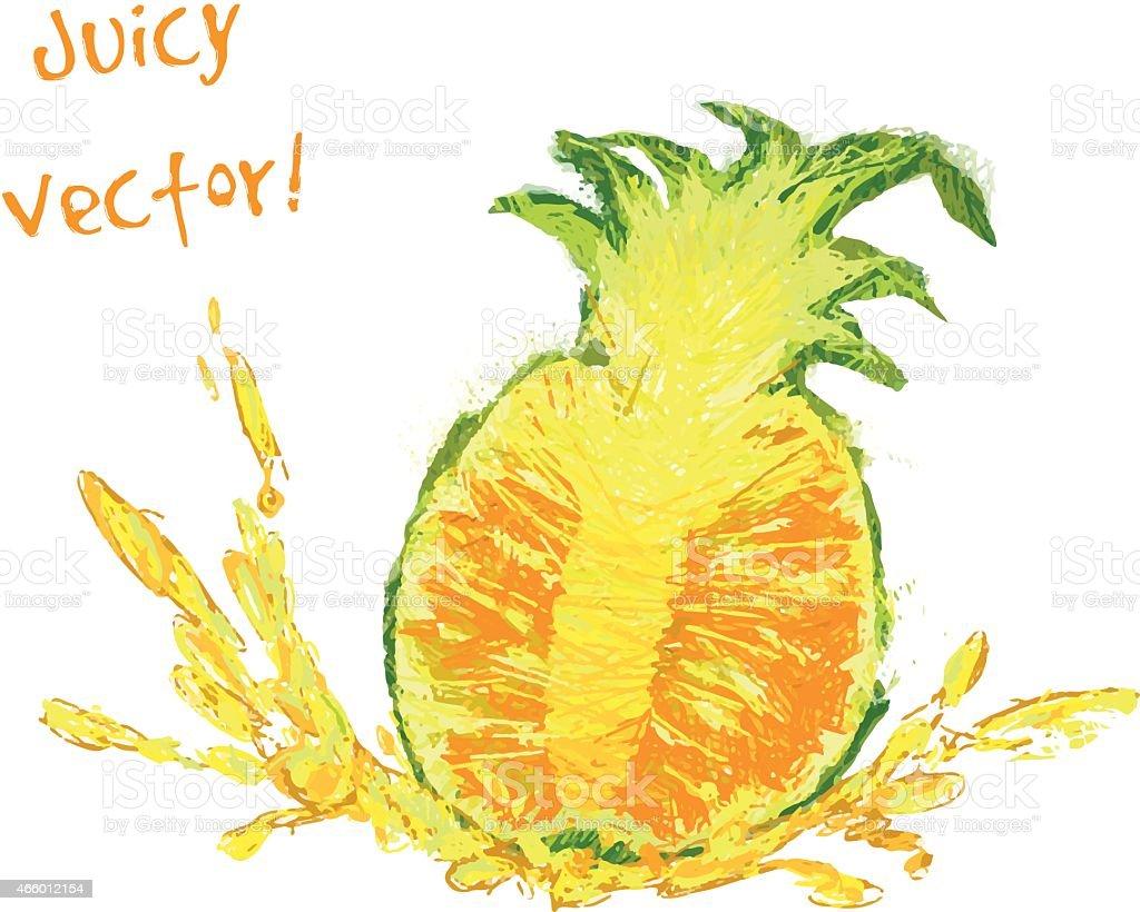 Ananas Rysunek rysunek plaster ananasa - stockowe grafiki wektorowe i
