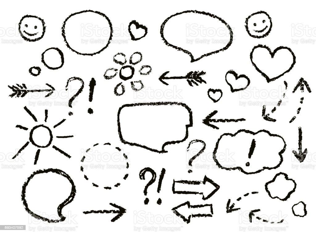 Konuşma Balonları çizim Pastel Boya Okları Kalp şekli Gülümse Giriş