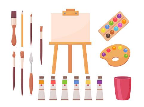 Drawing supplies set