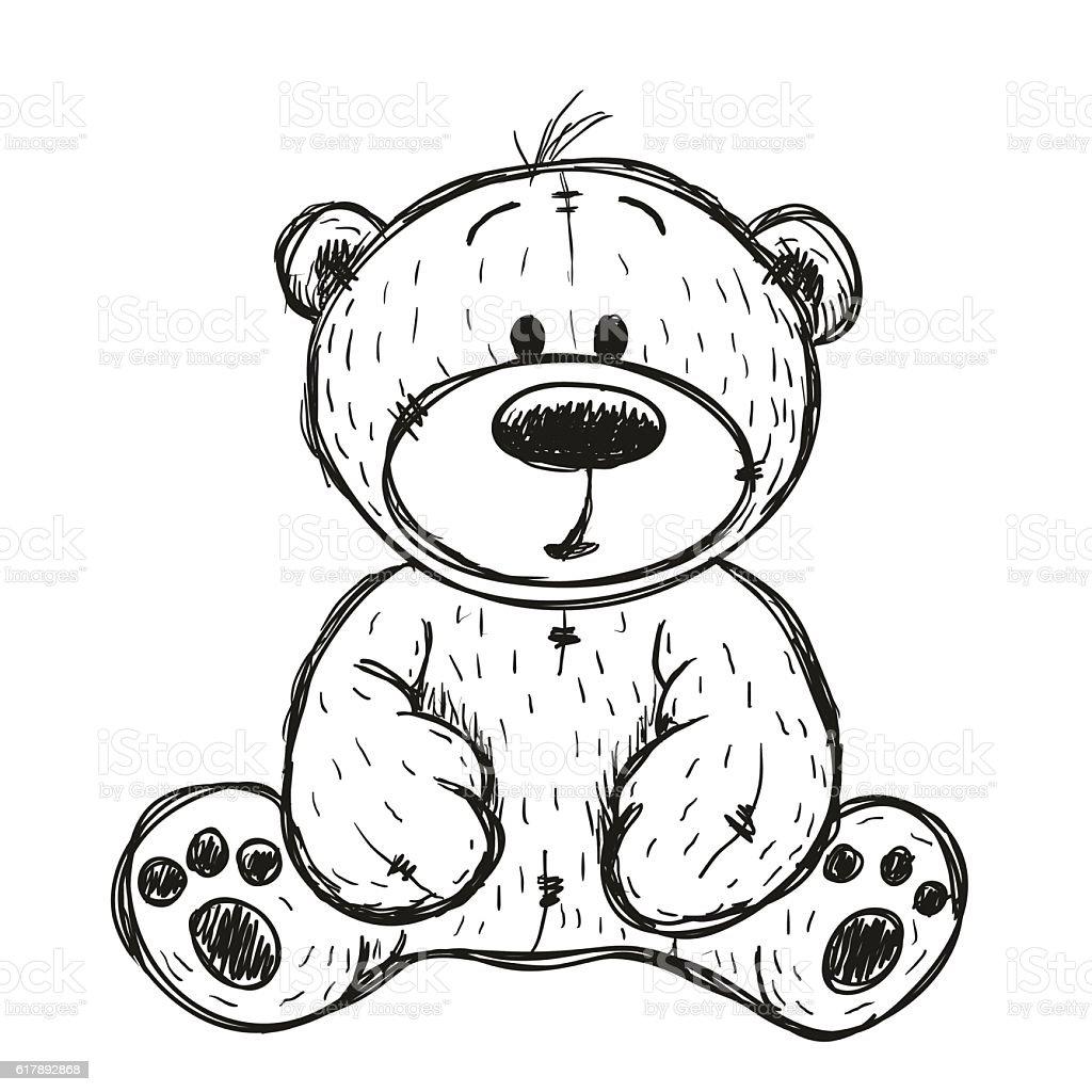 royalty free teddy bear clip art vector images illustrations istock rh istockphoto com Easter Egg Clip Art Black and White Tree Clip Art Black and White