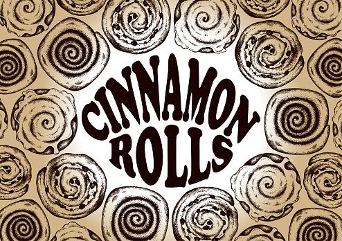 Drawing template Cinnamon rolls