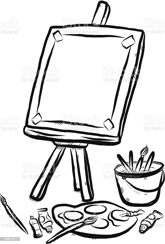 Line Drawing Tool : Drawing tools stock vector art more images of