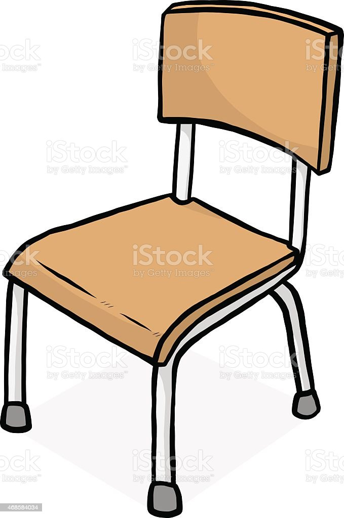school chair drawing. Fine Chair Drawn Image Of A Classroom Chair Vector Art Illustration In School Chair Drawing 5