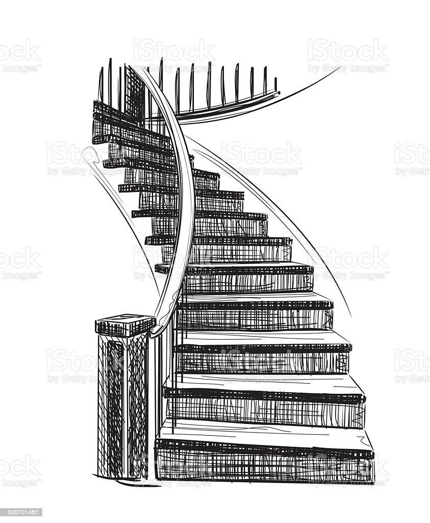 Ilustración de Diagrama De Dibujo De Escalera y más banco de ...