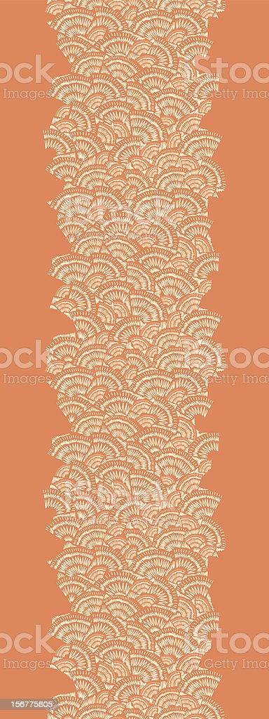 Drawn Sunrays Texture Vertical Seamless Pattern Border royalty-free stock vector art