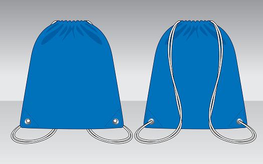 Drawstring Bag Design Vector