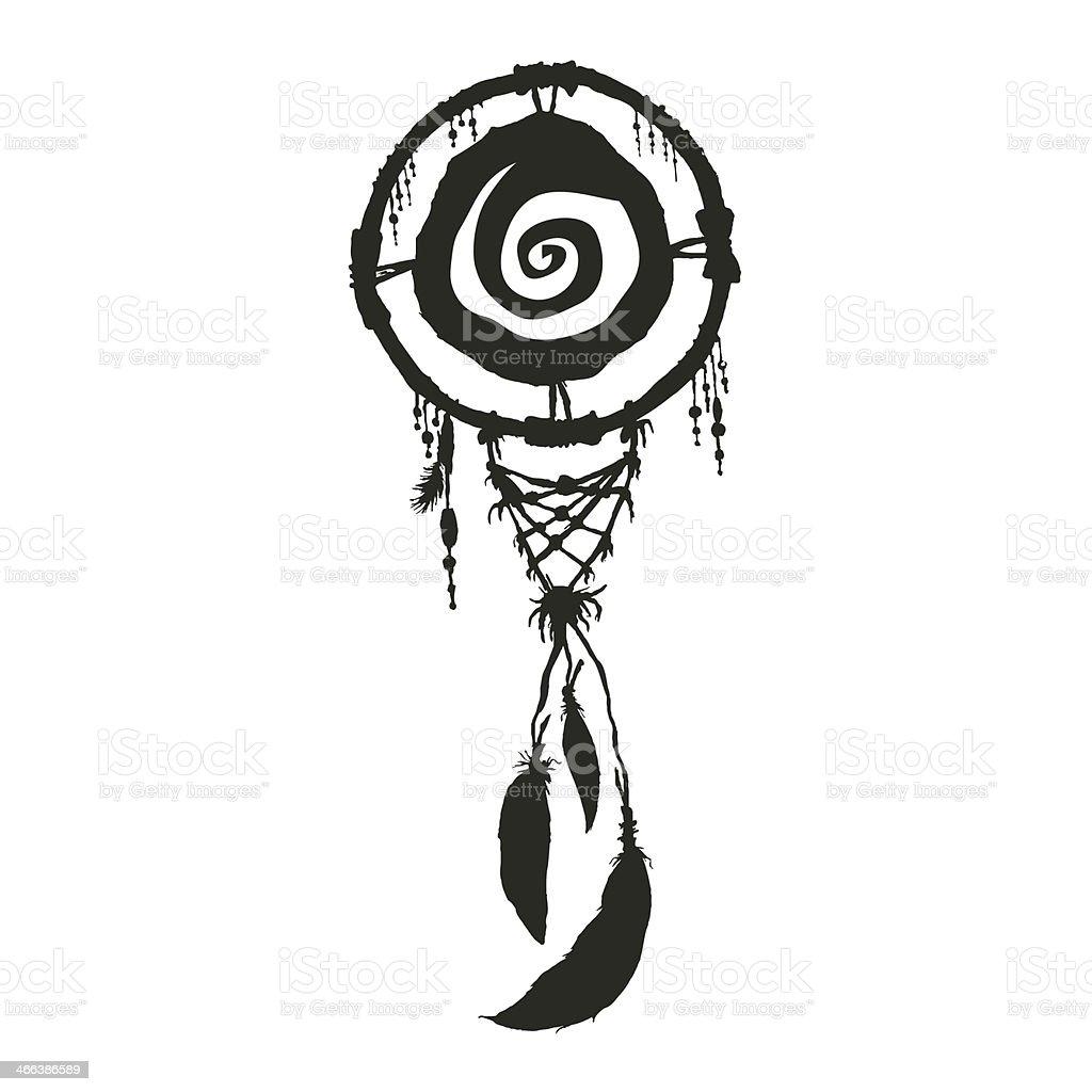 dream carcher black silhouette native american symbol stock vector rh istockphoto com