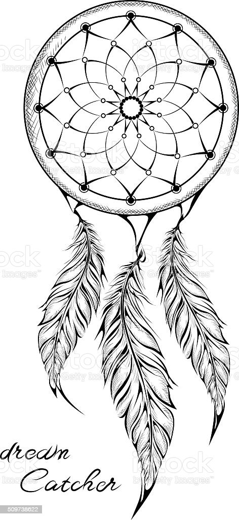 Dream Catcher isolated on white background. Amulet. vector illustration vector art illustration