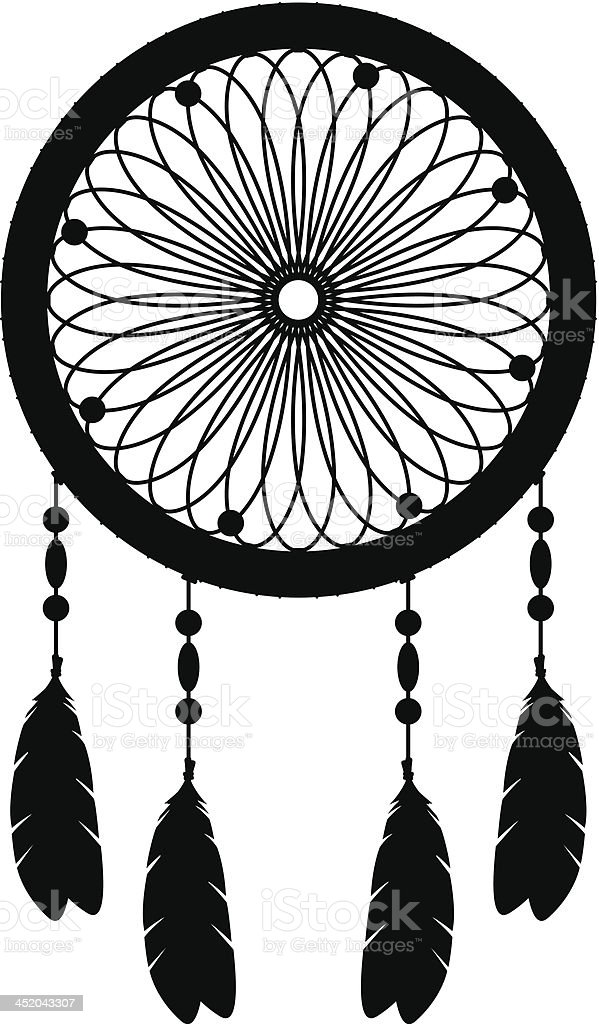 Dream catcher silhouette stock vector art more images of for Dream catcher graphic