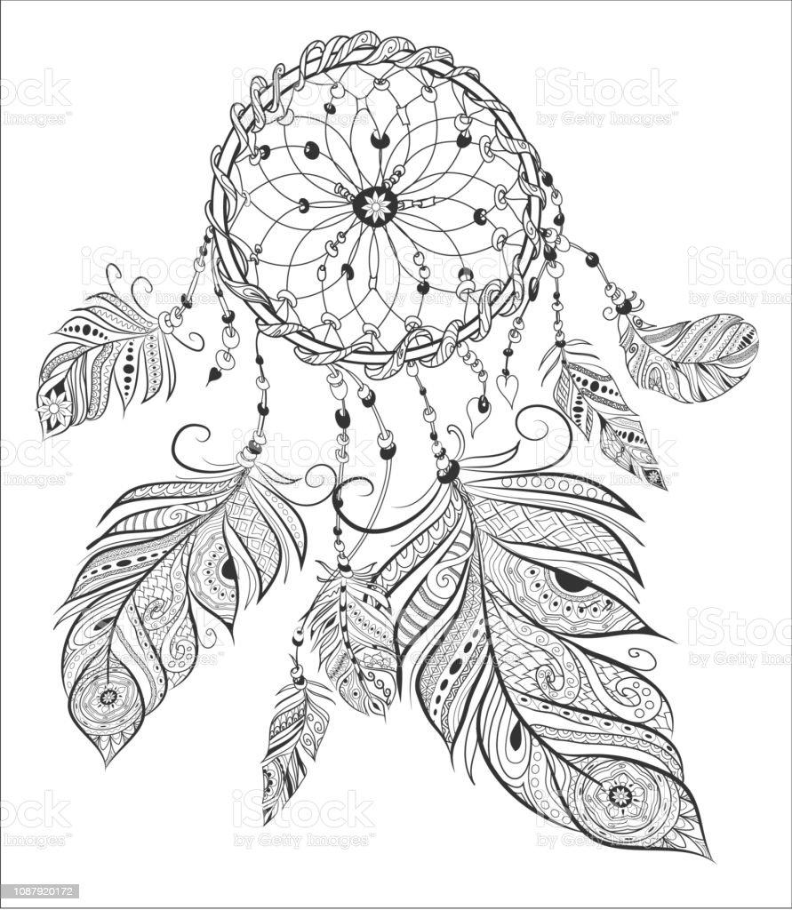 Malvorlagen Fur Erwachsene Malbuch Cather Traumen Ethnische Dekorative Elemente Stock Vektor Art Und Mehr Bilder Von Abstrakt Istock