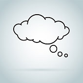 dream cloud isolated icon. Speech bubble of dreaming icon isolated on background.
