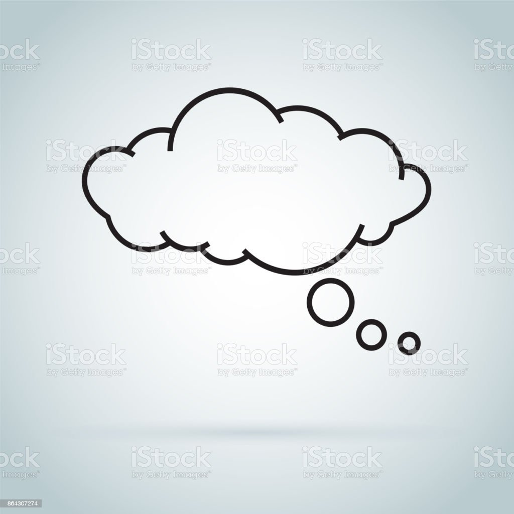dream cloud isolated icon. Speech bubble of dreaming icon isolated on background. vector art illustration