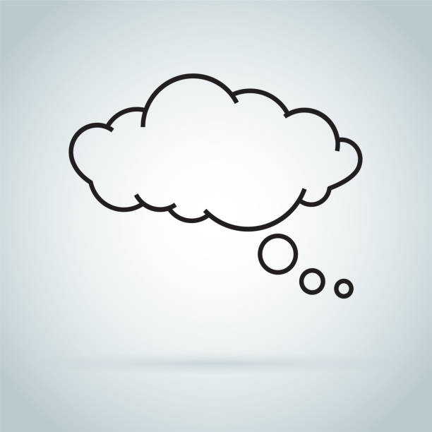 dream cloud isolated icon. Speech bubble of dreaming icon isolated on background. dream cloud isolated icon. Speech bubble of dreaming icon isolated on background. speech bubble of dreaming icon isolated on background. Modern flat pictogram. Trendy Simple vector symbol dreamlike stock illustrations