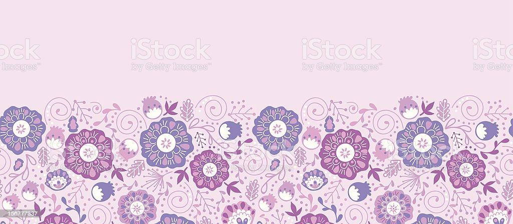 Dream Flowers Horizontal Seamless Pattern Background royalty-free stock vector art