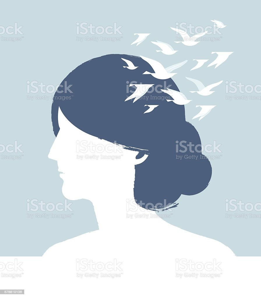 Dream Head vector art illustration
