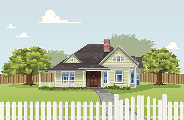 stockillustraties, clipart, cartoons en iconen met dream home - garden house