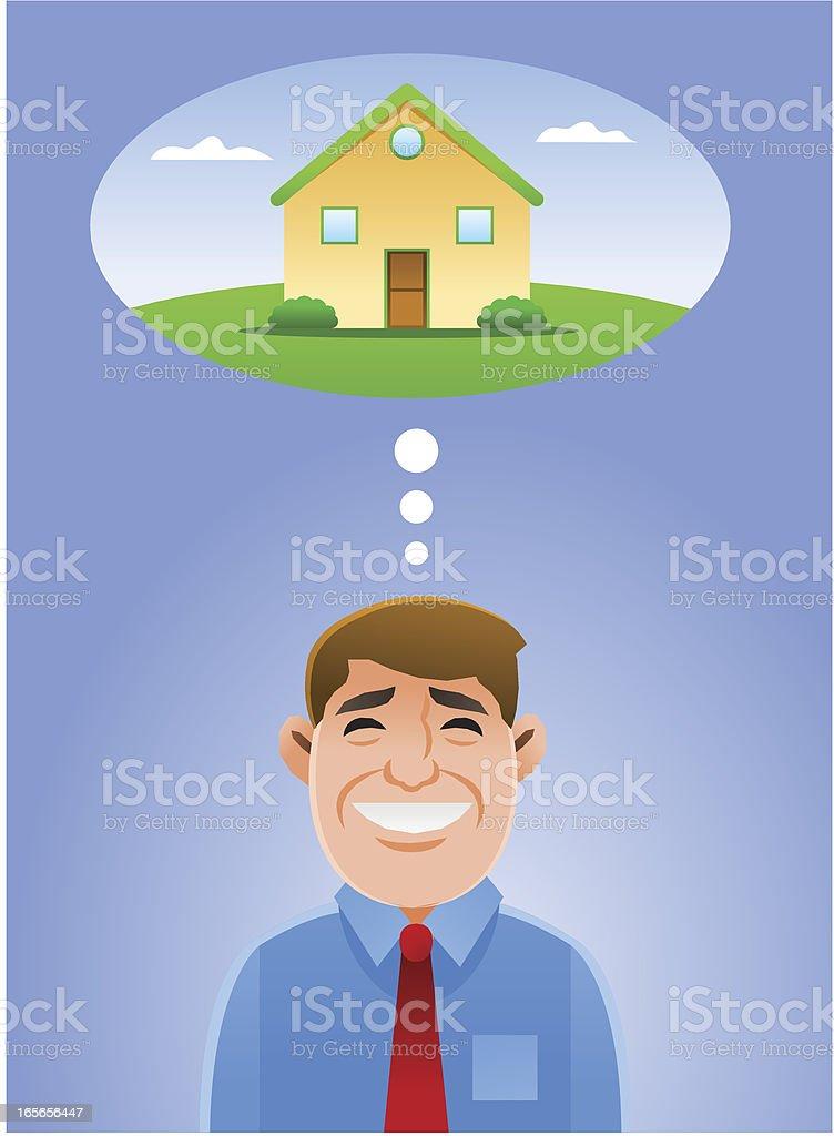 Dream Home vector art illustration