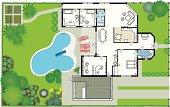 Dream house - blueprint (Vector & JPG)