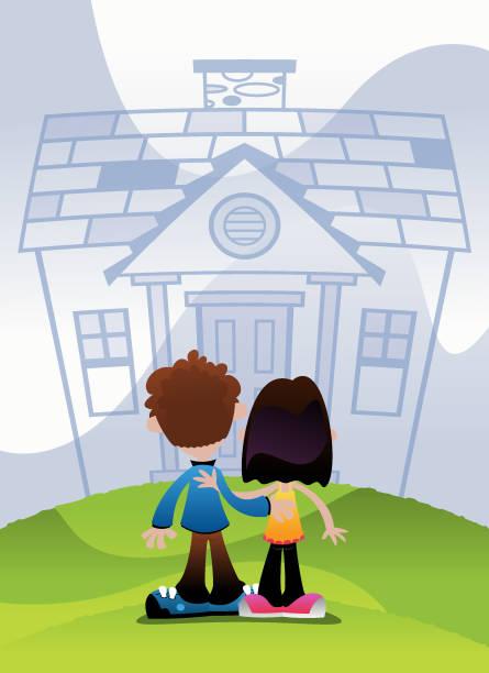 Dream House vector art illustration