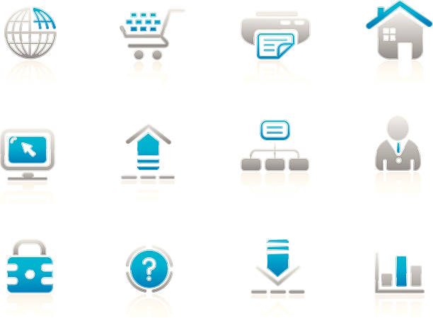 dream icons | azul series - byteandpixel stock illustrations