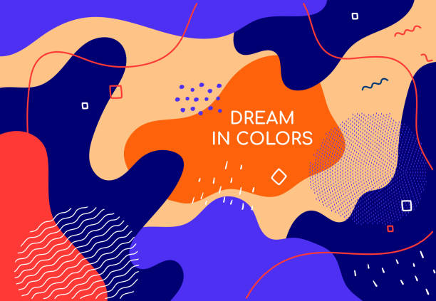 Dream in colors - modern flat design style abstract banner vector art illustration