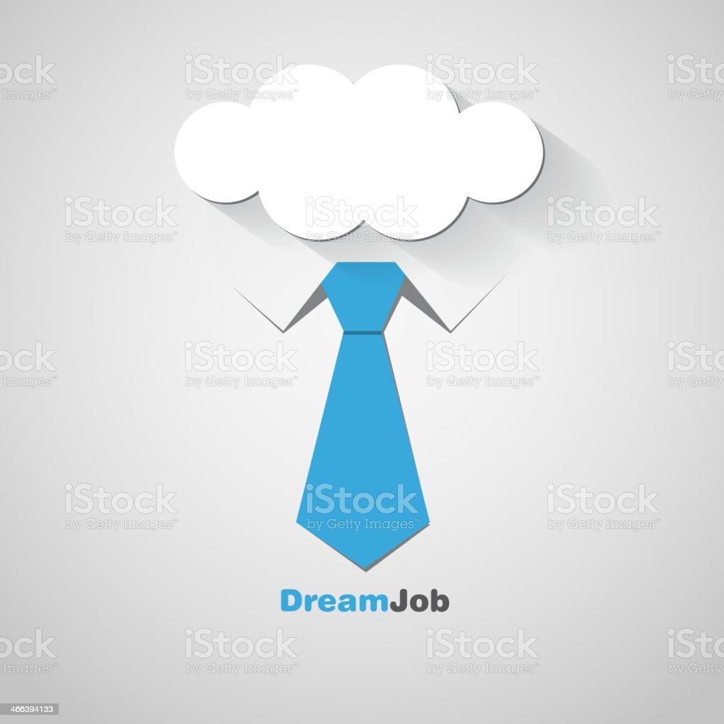 Dream job - conceptual logo eps10 illustration vector art illustration