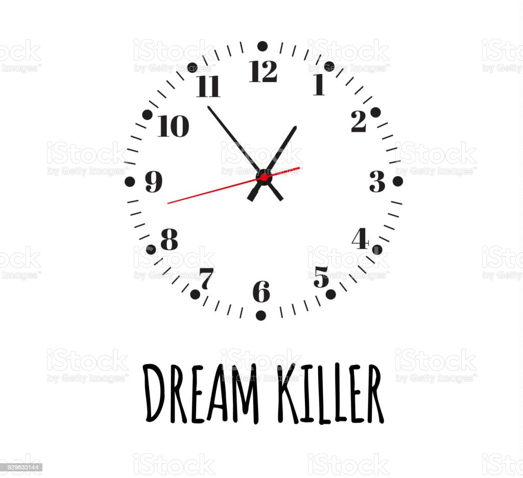 Dream killer the slogan of printing with a clock for printing office the slogan of printing with a clock for printing office clock urtaz Images