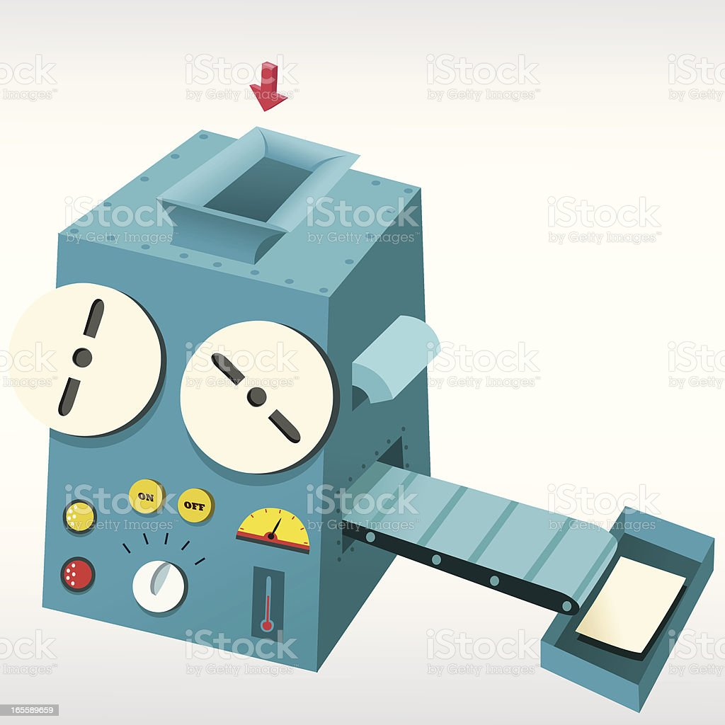 Dream Machine vector art illustration