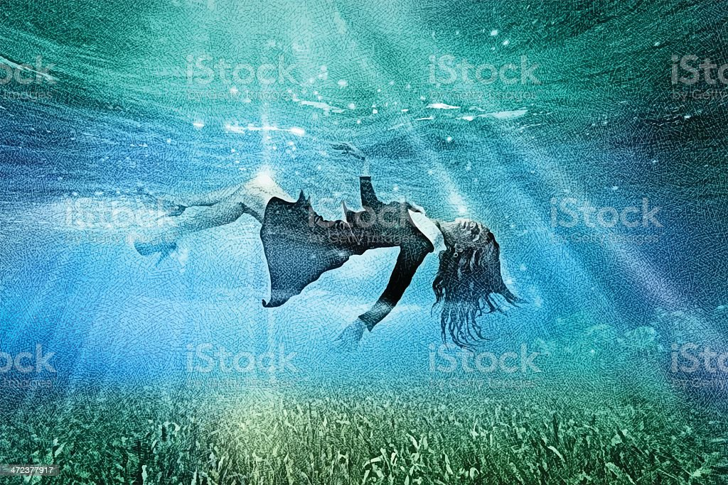 Dream Of Transformation or Passing To The Afterlife vector art illustration