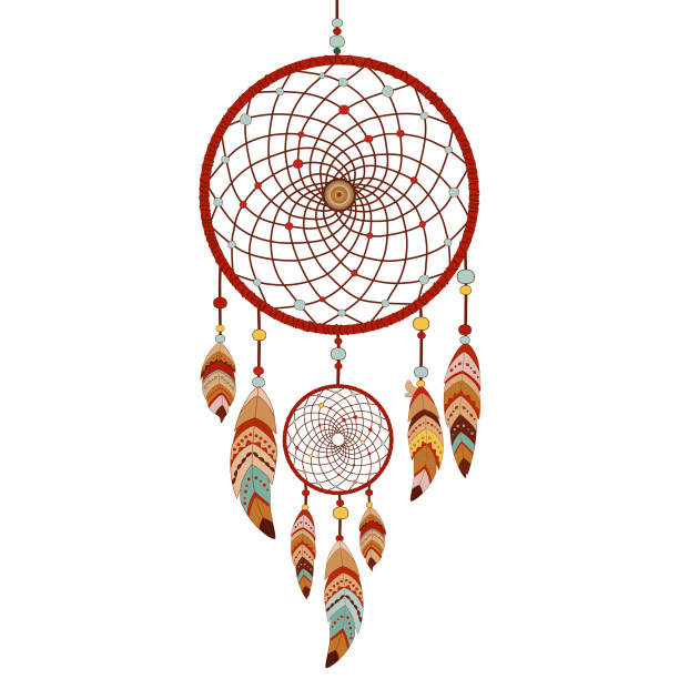 Dreamcatcher isolated on white background Dreamcatcher isolated on white background. Native american indian dream catcher. Colorful logo vector illustration dreamcatcher stock illustrations