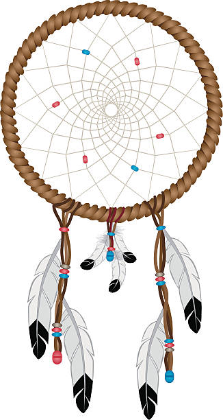 ilustrações de stock, clip art, desenhos animados e ícones de caça-sonhos - pena de pássaro algodão