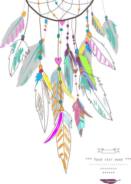 Dreamcatcher, vector illustration Indian talisman dreamcatcher stock illustrations