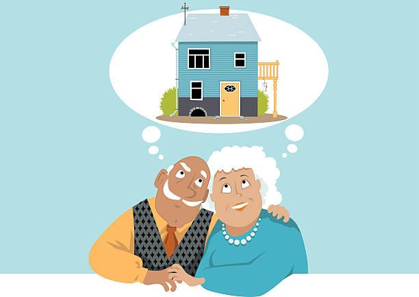 träumen sie von einem neuen zuhause - hypotheken kündigung stock-grafiken, -clipart, -cartoons und -symbole