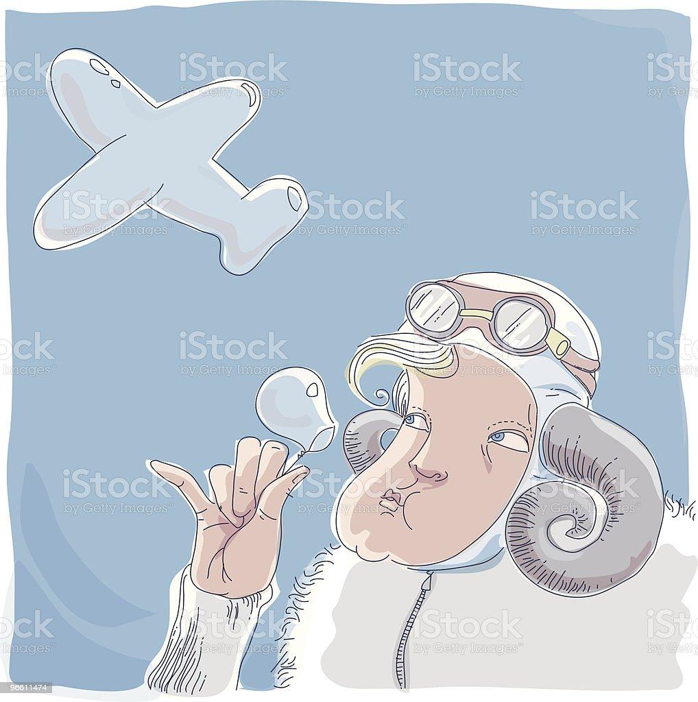 Мечты о полетах - Векторная графика Бессмысленный рисунок роялти-фри
